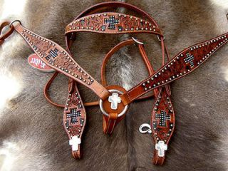 Newly listed BRIDLE WESTERN LEATHER HEADSTALL BREASTCOLLAR TACK SET