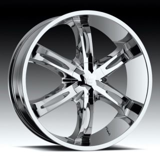 28 inch vision hollywood 6 chrome wheels rims 6x135 30
