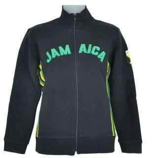 Jamaican Flag Rasta Rastafari Fleece Track Jacket Women Ladies Felt