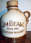 BEAM JIM BEAM SINCE 1795 BOURBON WHISKEY JUG LIQUEUR DECANTER EMPTY