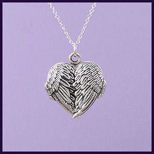 sterling silver angel wings locket necklace a104 from united kingdom