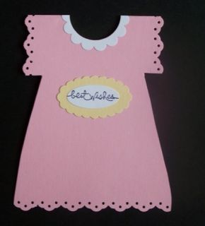 Stampin Up Handmade Greeting Card Baby Girl Dress Lot