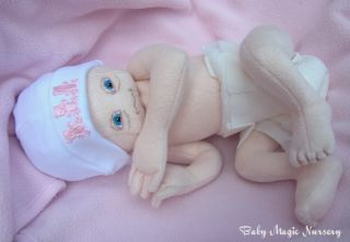 Baby Magic Nursery Prem Girl Cloth Reborn Doll Rac ♥
