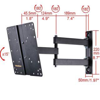 Articulating LED LCD Tilt Swivel Arm TV Wall Mount 22 24 26 27 32 36