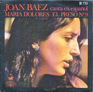 Joan Baez Maria Dolores El Preso No 9 Spain 45 w PS Sung in Spanish