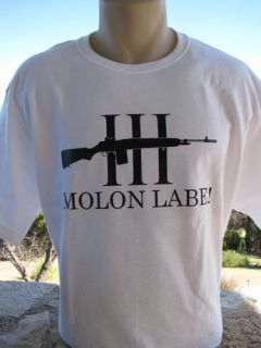 Molon Labe M1A M14 Three 3 Percenter T Shirt Tea Party