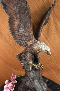 Life Size American Bald Eagle Special Patina Hand Made Bronze