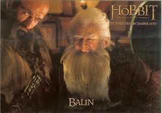 2012 RARE Dennys The HOBBIT AN UNEXPECTED JOURNEY Card BALIN