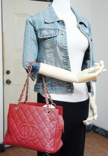 Red Caviar Timeless CC Logo Quilted Tote Handbag Purse Bag 2667