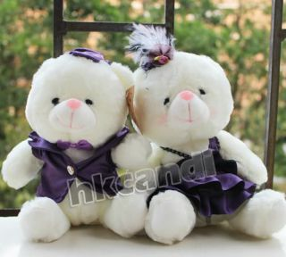evening dress couple Teddy Bear stuffed animals wedding gifts ST001