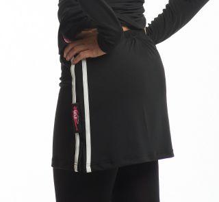 Womens Running Skirt Tights Plus Performance T Shirt White Stripe
