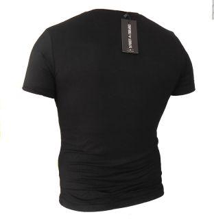 NEW EMPORIO ARMANI BLACK MEN SHORT SLEEVE SLIM T SHIRT SIZE XL