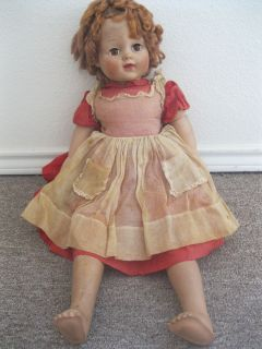 Vintage RARE 29 Madame Alexander Cloth Vinyl 1952 BARBARA JANE Doll