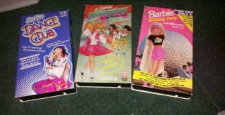 Barbie VHS 1994 Lot of 3 Mixed Tapes