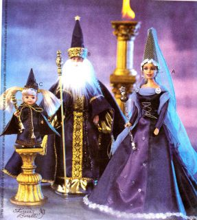 OOP BARBIE KEN KELLY CAMELOT WIZARD MEDIEVAL COSTUME SEWING PATTERN