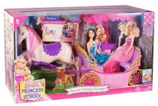 Mattel Barbie Doll Dream House Princess Charm School Horse and