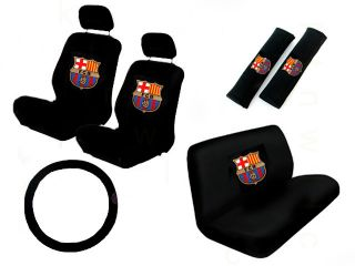 11 PC Car Seat Cover Set Futbol Barcelona FCB Barca