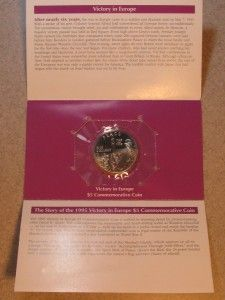 1995 $5 MARSHALL ISLANDS VICTORY IN EUROPE COMMEMORATIVE COIN