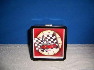 NOVELTY CLOCK   DESK ALARM CLOCK WITH RACING CAR SOUND ALARM