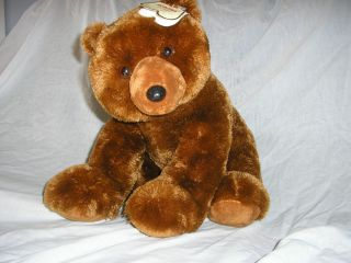 Aurora Brown Grizzle Bear Plush Toy with Tag