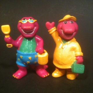 Barney Dinosaur Figures Solid PVC Doll Toy Lot
