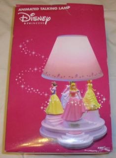 Talking Animated Lamp Light Cinderella Belle Aurora Snow New