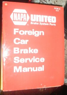 Foreign Car Brake Service Manual UNT Ited Brake System Parts