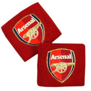 ARSENAL FC SWEATBANDS WRISTBANDS TEAM FOOTBALL SOCCER CLUB EMIRATES