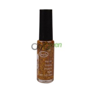 Glitter Nail Art Striping Brush Polish Varnish Paints Decoration Gold