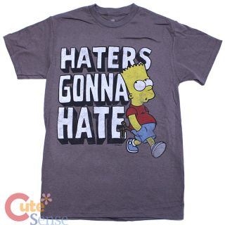 Simpson Family Bart T Shirts Haters Gonna Hate Mens Shirts Tee 4 Size