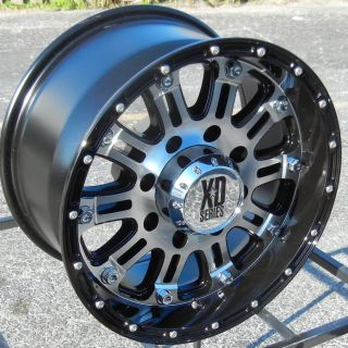 17X9 BLACK MACHINED XD HOSS WHEELS RIMS CHEVY TAHOE SUBURBAN GMC