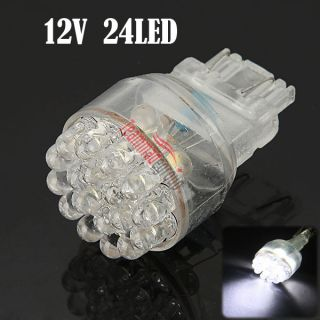 T25 White Car 24 LED Tail Brake Turn Signal Light Bulb Lamp 12V New