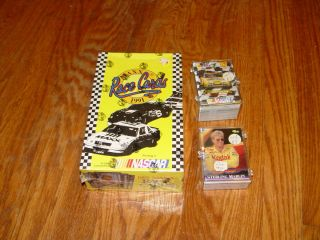 race trading cards LOT wax box set 1991 1994 Racing car Classic 1996