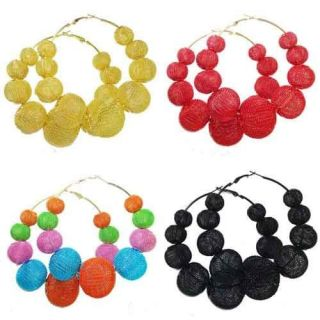 New Different Color Mesh Balls Beads Basketball Wives Poparazzi Hoop