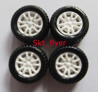 4pcs 20 8 1 9mm hollow Rubber Car Tire Toy Wheels Model Robot Part for