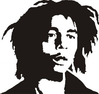 Bob Marley Silhouette Vinyl Decal Sticker Car Graphic