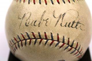 Babe Ruth Lou Gehrig Dual Signed Baseball JSA Thumbnail Image