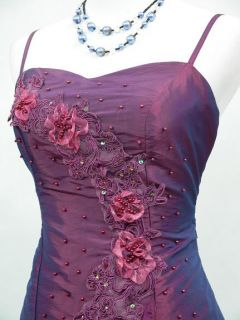 CHERLONE Satin Dark Purple Prom Lace Bridesmaids Ball Wedding Evening