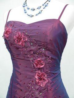 CHERLONE Satin Dark Purple Prom Lace Bridesmaids Ball Wedding Evening