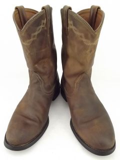 cowboy boots dark brown leather Ariat ATS Heritage 7 5 B western roper