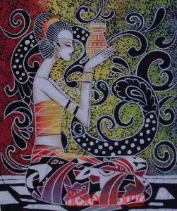 Chinese Art Handmade Batik Wax Dyed Tapestry GZA1015C18