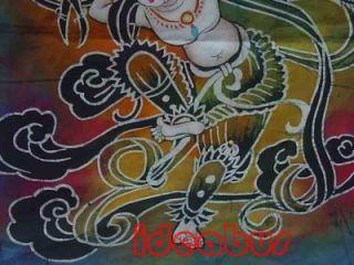 Chinese Art Handmade Batik Wax Dyed Tapestry GZA1015C71