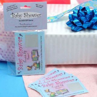Baby Shower Games Lottery Style Scratch Off Game Fun