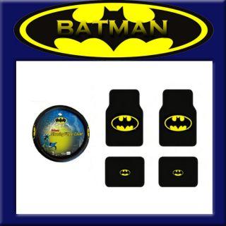 New Batman Logo Car Truck Classic Dark Knight Carpet Floor Mat Wheel
