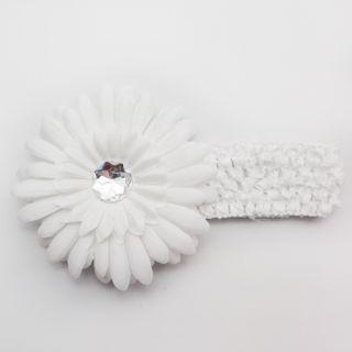 Baby Girl Hair Bow Gerber Daisy Flower Headband Clip 2