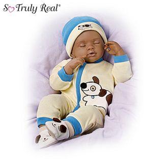 Ashton Drake African American Breathing Baby Boy Doll Marcus