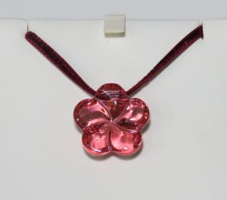 New Baccarat Glamorous Flower Tourmaline Crystal Pendant Necklace