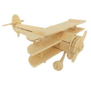 Kids Wooden Assemble 3D Sopwith Triplane Model Construction Kit Puzzle