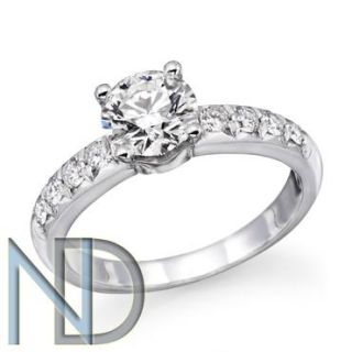 CTW Round Diamond Solitaire Engagement Ring 14k Gold