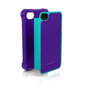 Ballistic SG Shell Gel Series Rugged Case for iPhone 4 4S Purple Teal